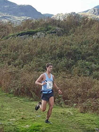 Patrick smashing the downhill at Langdale
